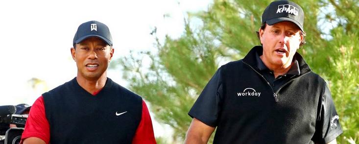 Tiger Woods, Phil Mickelson y dos estrellas más: Payton y Manning