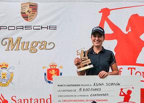 Luna Sobrón se lleva la victoria en Pedreña tras un día de sufrimiento