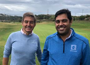 Marco Martín y Agustín Alonso, diseñador y gerente de Azata Golf, en busca de la excelencia