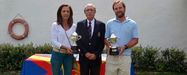 Maria de Orueta y Eduardo Corsini campeones de España de Mayores de 30 años