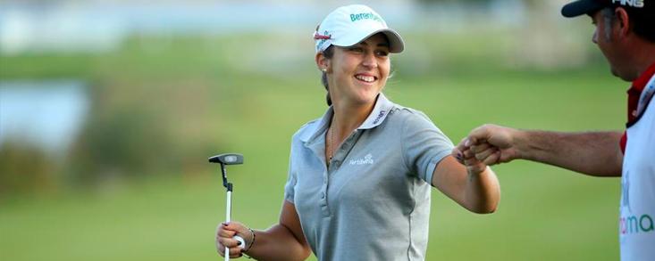 María Parra entra en el top ten tras 18 hoyos