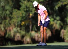 Marta Sanz se suma al liderato en el IOA Golf Classic