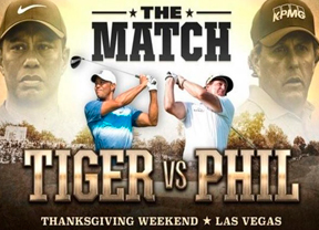 Tiger Woods Vs. Phil Mickelson se podrá ver sólo en Pay per View por 19,99 dólares