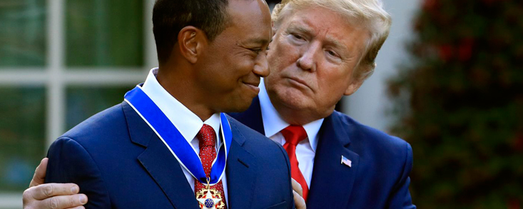 Donald Trump premia los valores de Tiger Woods