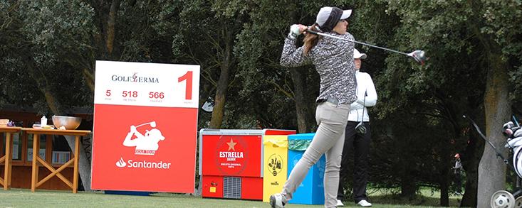 Mireia Prat se coloca a un golpe por detrás de la líder en Golf Lerma