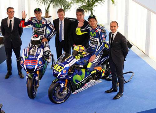 Jorge y Valentino se vuelven a ver las caras en la presentación de sus motos