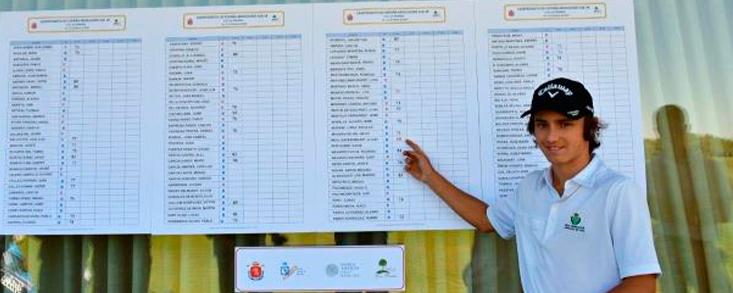 Álvaro Mueller Baumgart, líder en Las Pinaillas con 68 golpes