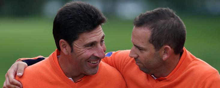Sólo dos veces ganó Europa con dos jugadores españoles en el equipo