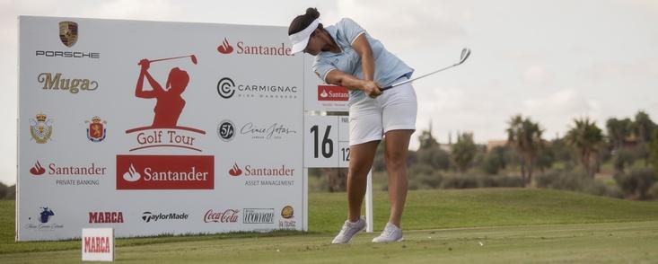 Natalia Escuriola pone la directa hacia la victoria en Zaudín Golf