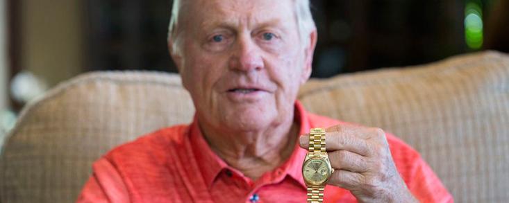 Jack Nicklaus dona un 1.22 millones de dólares de la subasta de su Rolex favorito