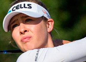 Nelly Korda mantiene el control en Francia con Azahara Muñoz a diez golpes