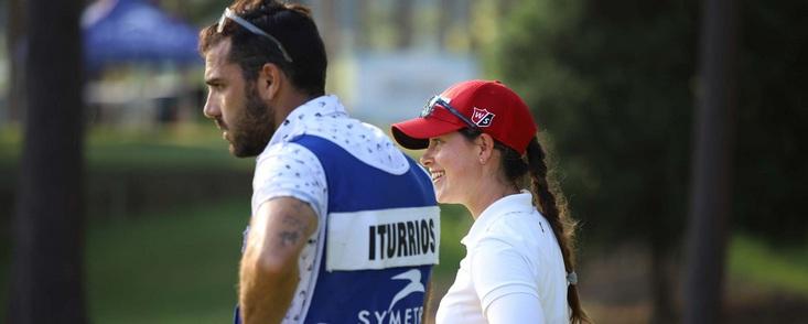 Nuria Iturrios comienza a cumplir su plan en el Symetra Tour: líder en solitario con ocho bajo par y una tarjeta perfecta