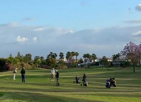 Primera mañana de golf tras dos meses de inactividad en muchos campos