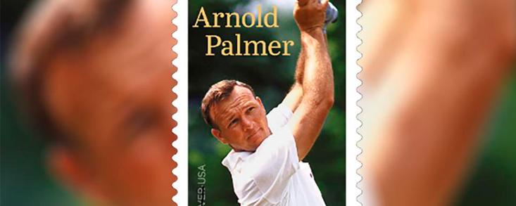 El Servicio Postal de EE. UU. presenta el sello de Arnold Palmer