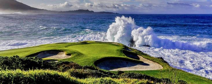 La fiesta del golf estadounidense en el campo más espectacular del mundo