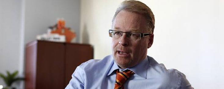 Keith Pelley, reunión con Gonzaga Escauriaza y con la prensa especializada