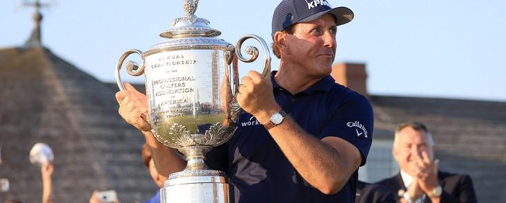 Mickelson gana en Kiawah Island y suma su sexto en Grand Slam