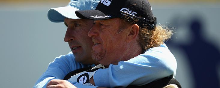 Miguel Ángel Jiménez y José María Olazábal juntos esta semana en el Chubb Classic