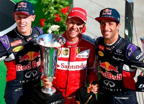 Victoria de Vettel, Alonso quinto