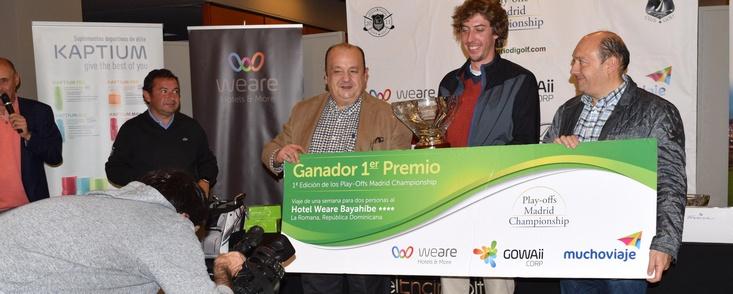 Pedro Morenés, con 40 puntos, fue el mejor bajo la lluvia en El Encín y consigue el mejor premio del golf amateur español