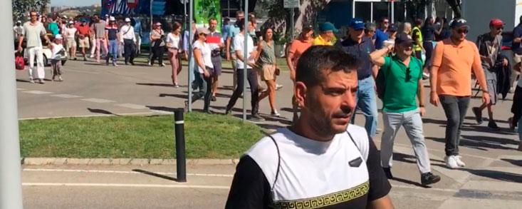 Miles de personas siguiendo a Rahm, García, Cabrera Bello...