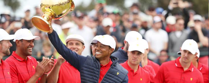 Woods marcó el camino de la remontada americana ganando a Abraham Ancer