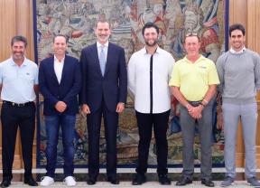 El Rey recibe en en el Palacio de la Zarzuela a los jugadores más destacados