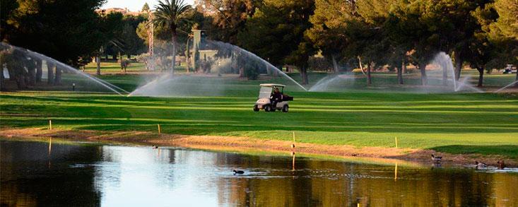 El Consumo de agua por el golf, insignificante
