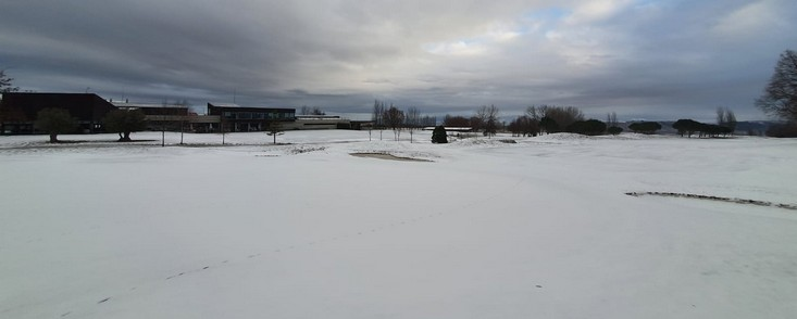 La nieve hace imposible jugar al golf este fin de semana en media España