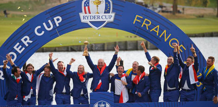Europa ganó la Ryder Cup en el Golf National de París