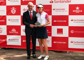 Silvia Bañón se lleva la victoria en la primera cita del Santander Golf Tour 2018