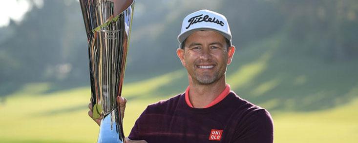 Adam Scott (-11) salda el domingo con 70 golpes en el Riviera Country Club y alza su decimocuarto trofeo en el PGA Tour