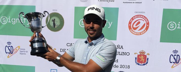 Sebastián García revalida el título en Augusta Golf Calatayud