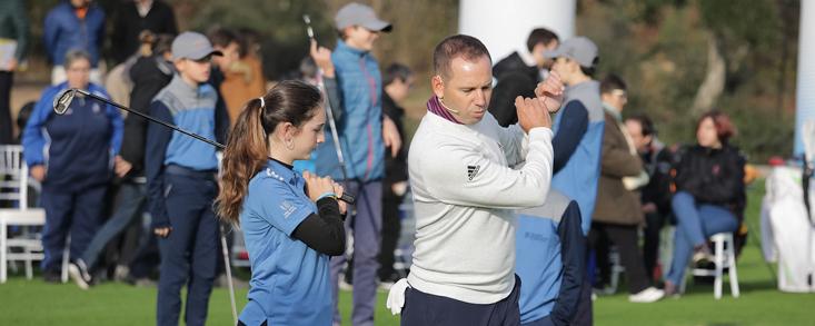 Sergio García inaugura las nuevas instalaciones The Golf Hub