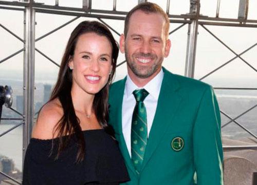 Sergio García y Angela Akins anuncian que esperan un hijo para marzo