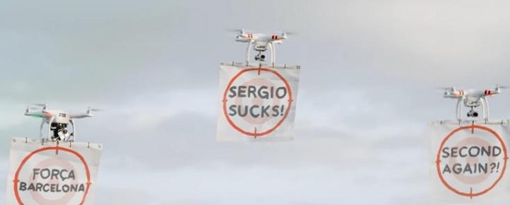 Sergio y TaylorMade contra los drones: ¡¡destrucción total!!