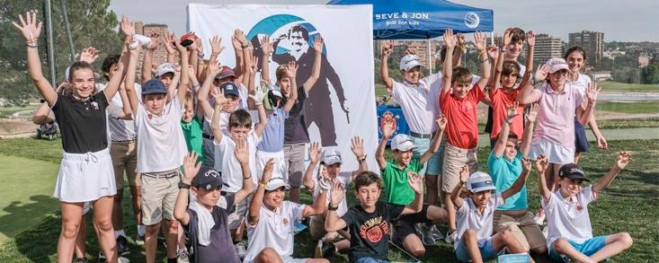 Más de 50 niños en el inicio del Seve&Jon Golf for Kids