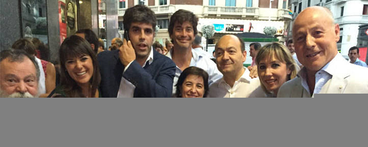 El cine Callao vivió una gran noche de golf en el estreno de la película del genio de Pedreña