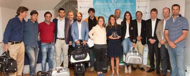Mariano Ayora y su hija Miriam, vencedores en la Final disputada en Pedreña