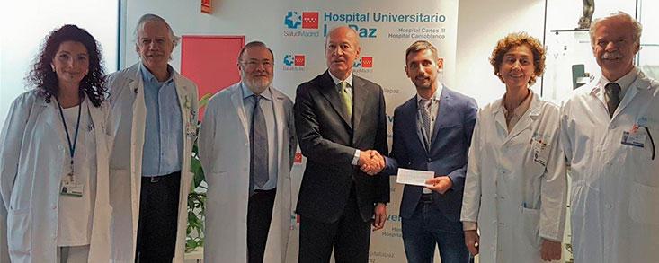 La Fundación Sergio García entrega la recaudación del Andalucía Valderrama Masters al Hospital Universitario La Paz