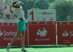 Silvia Bañón, primera líder en el Santander Golf Tour con un arranque de -4