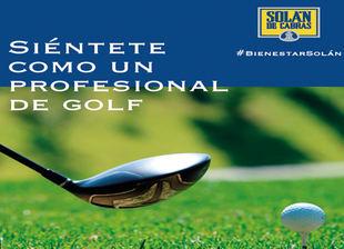 Siéntete como un profesional del golf con Solán de Cabras