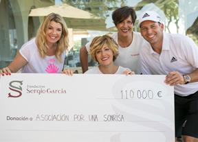Sergio García entrega la recaudación solidaria del año pasado