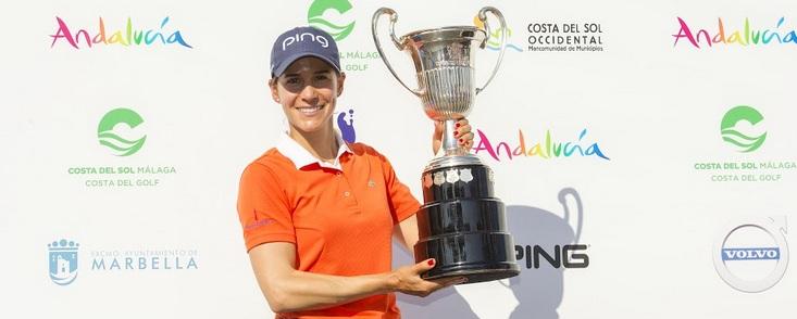 Azahara Muñoz sumó la única victoria española en el LET y la LPGA
