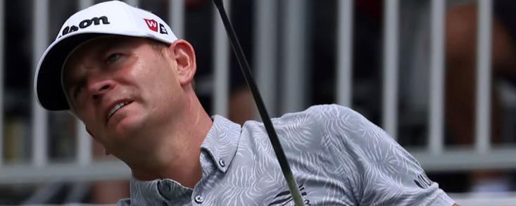 Steele, de la red en el patio de su casa a líder en la PGA