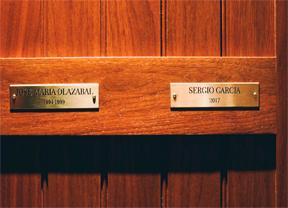 Olazábal y García juntos en el vestuario de Augusta