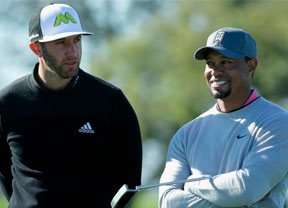 Cara y cruz para Tiger Woods (par) y Dustin Johnson (+6)