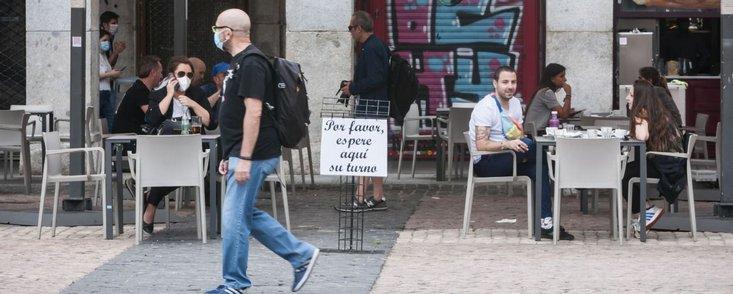 Sancionan 1.814 terrazas de Madrid en Fase 1