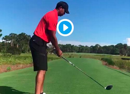 Tiger Woods ya luce golpes de drive
