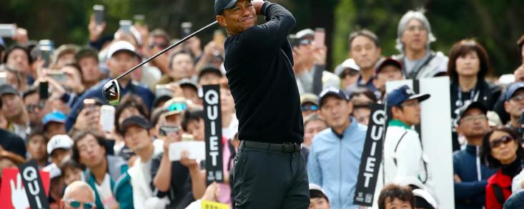 Gran reaparición de Woods en Japón coliderando el torneo
